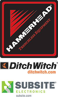 Hammerhead DitchWitch and Subsite logos all companies represented in the wwett show marketplace demos