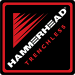 Hammerhead Trenchless logo black red and white